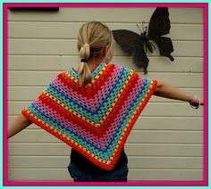 A rainbow poncho Free pattern of Drops. www.garnstudio.com