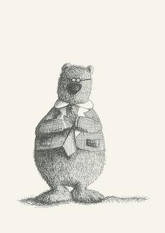 Mr Honey #animals#bears#glasses#drawing#elegant by Leo Bellei https://flic.kr/p/DDzQJf