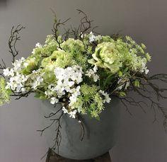 Afbeeldingsresultaat voor zijde bloemen pot