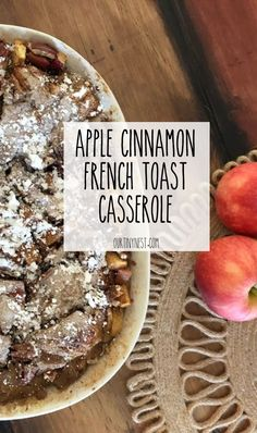 This is a delicious breakfast or brunch recipe made with warm fall flavors and perfect for apple picking season. #fallrecipes #brunch #frenchtoastcasserole #applerecipes #breakfastrecipes #applepicking #fallrecipes #falldecor #fall Cinnamon French Toast, Cinnamon Apples, Apple Recipes, Fall Recipes, Yummy Recipes, Healthy Recipes, Breakfast Recipes, Brunch Recipes, French Toast Casserole