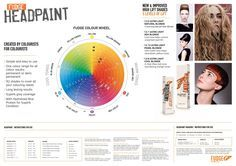 Fudge Headpaint wall chart with colour wheel and instructions.
