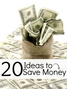 Take a look at these 20 ideas on how to save money. Find out ways to save on your heating bill, groceries, electricity and more!