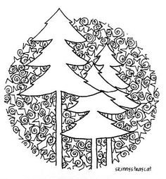 christmas zentangle | Want To Be A Christmas Tree | Zentangle
