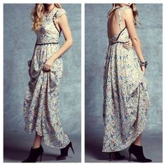 FREE PEOPLE Maxi Dress Open Cutout Back Prom Gown Available Sizes: 2, 8 and 10.  New With Tags. $350 Retail + Tax.   Gorgeous floral printed maxi dress with sheer outer shell and mini skirt lining.  Flutter cap sleeves and high neck.  Bodice is lined with a Bralette.   Nylon.  Imported.    ❗️ No trades or holds.    Bundle 2+ items for a 20% discount!    Stop by my closet for even more items from this brand!  ✔️ Items are priced to sell, however reasonable offers will be considered when…