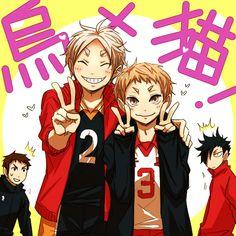 MAMAS :3 Daichi Sawamura, Sugawara Koushi, Yaku Morisuke & Kuroo Tetsurou - Haikyuu!! / HQ!!