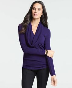 Knit Cowl Neck Top from Ann Taylor