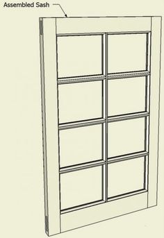 Classic window sash and breakfront glass doors with molded muntins are challenging woodworking projects. However, I find that working through the detail design in SketchUp clears up any...