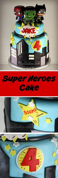 Super Heroes Cake by