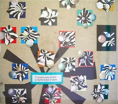 This week 3rd graders finished up their Floating Spheres. The first part of the lesson is posted here....