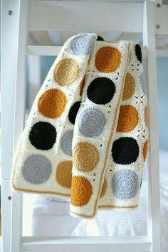 Crochet Granny Square Ideas Handmade Crochet Baby Blanket Modern Granny Square by BunchLiving - Modern Crochet Blanket, Crochet For Beginners Blanket, Crochet Blanket Patterns, Baby Blanket Crochet, Crochet Baby, Knit Crochet, Crochet Blankets, Crotchet, Crochet Cardigan
