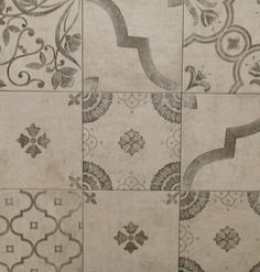 Patterned tiles suitable for walls and floors Patterned Wall Tiles, Ceramic Design, Tile Patterns, Porcelain Tile, Floors, Vintage World Maps, Mosaic, Kitchens, Walls