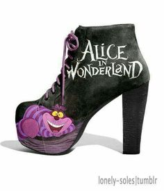 Alice in wonderland boots . Love these