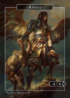 Angel Azazel Token for MTG (Peter Mohrbacher)
