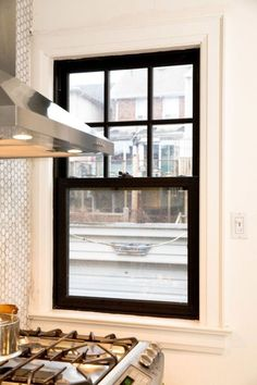 Here are the Black Window Frames Ideas. This article about Black Window Frames Ideas was posted under the Furniture category. Painted Window Frames, Black Window Trims, Interior Window Trim, Black Windows Exterior, Black Vinyl Windows, Interior Photo, Interior Design, Herringbone Backsplash, Easy Backsplash