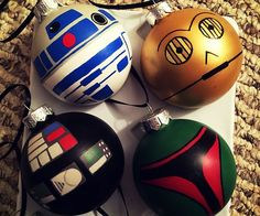 Give your quaint Christmas tree an out of this world touch with these Star Wars ornaments. The glass ornaments come in a set of six and are hand painted to resemble some of the film series's most iconic characters like Darth Vader, Chewbacca, and C-3PO.
