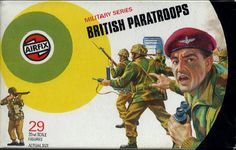 Airfix - intent on giving us kids our World War 2 'fix' with their scale plastic soldier sets. To any boy aged between 2 and 12 these were equivalent to crack cocaine 1970s Childhood, My Childhood Memories, Childhood Toys, Retro Toys, Vintage Toys, Plastic Soldier, Toy Packaging, Toy Soldiers, Old Toys