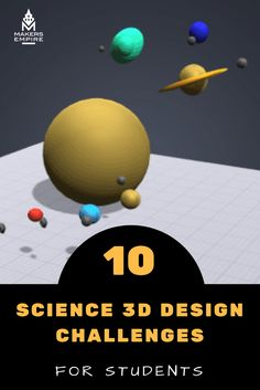 See how 3D design and printing can enhance students' science learning with these 10 science 3D design challenges! Find even more design challenges and lesson ideas at www.makersempire.com