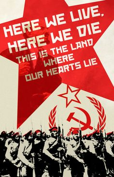 Russian Propaganda Poster by Nikita Shmyglya, via Behance