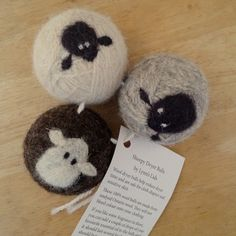 Sheepy Wool Dryer Balls, awesome hats and other knitted accessories from Lynn's Lids will be at Needle Felted Animals, Felt Animals, Needle Felting, Wool Dryer Balls, Knitting Accessories, Sheep Wool, Art Fair, Lemon Grass, Felt Crafts