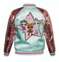 Girls LOL Surprise Glitterati Reversible Bomber Jacket Size XS Extra Small Condition is New with tags. Girls Bomber Jacket, Kids Outfits, Cute Outfits, Lol Dolls, Cool Jackets, Toys For Girls, Doll Clothes, Girl Fashion, 90s Fashion