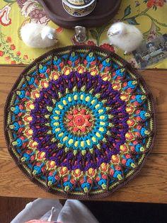 Ravelry: Project Gallery for Spanish Mandala Pillow overlay crochet pattern by Tatsiana Kupryianchyk