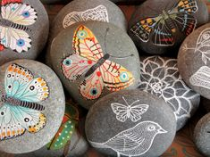I used to paint rocks in Door County, WI with my sisters and sell them on the docks for a dollar.  What a great memory!