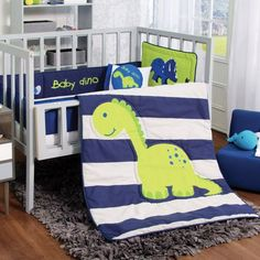Adventures For Your Dreams Crib Bedding Set - Baby Dino- 6 pcs #VNG                                                                                                                                                                                 Más