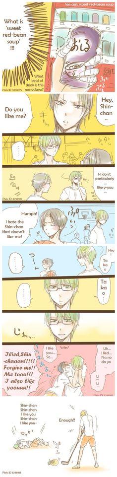 MidoTaka Midorima's face in the 8th panel is soooo cute XD