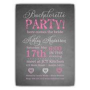 Chalkie Bachelorette Invitations