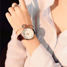 Buy Polygonal Dial Design Women Watches Luxury Fashion Dress Quartz Watch Ulzzang Popular White Ladies Leather Wristwatch at Wish - Shopping Made Fun Stylish Watches, Casual Watches, Cool Watches, Watches For Men, Women's Watches, Luxury Watches, Cheap Watches, Watches Online, Look Fashion