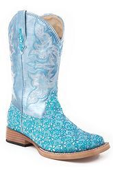 Rhinestone Cowgirl Boots --- way over the top crazy...  would make a great barrel chasing boot!