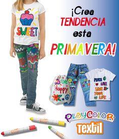 Playcolor Textil, paint, children, niños, pintar, decorar tejidos, pinter ropa, textil, instant, primavera, spring