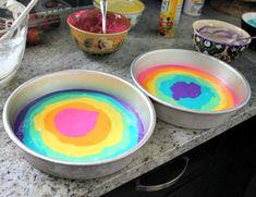 Rainbow Swirl Cake | hi Sugarplum!