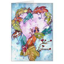 Winter heart greeting card Head Start, Holiday, Christmas, Greeting Cards, Heart, Winter, Illustration, Painting, Xmas