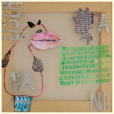 Animalische Anekdote 6, 2016 39x39 cm mixed media in PES Gaze © Birgit Herzberg-Jochum
