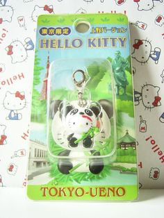 HELLO KITTY GOTOCHI Mascot Figure Charm Panda TOKYO UEMO ZOO JAPAN Sanrio 2004 1.7cm *SOLD OUT!* 19.99