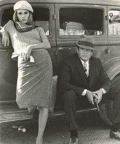 Faye Dunaway and Warren Beatty in Bonnie & Clyde (1967)