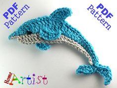 Dolphin Seastar crochet Applique Pattern