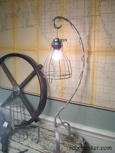 This is more my style - how cool to make these lamps from old industrial work lights?