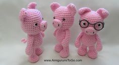 Little Bigfoot Piggy 2014 With Video Amigurumi - Free Crochet Pattern Crochet Pig, Crochet Gifts, Crochet For Kids, Diy Crochet, Crochet Dolls, Crochet Animal Patterns, Crochet Patterns Amigurumi, Crochet Animals, Crochet Projects