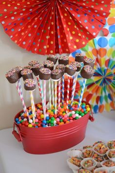 """Photo 17 of 59: Elmo and Rainbow Colors / Birthday """"Colorful Elmo 1st Birthday"""" 