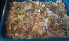Lavkarbo kjerringa: Koteletter og grønnsaker i fløtesaus Pork, Meat, Chicken, Red Peppers, Kale Stir Fry, Beef, Pork Chops, Cubs