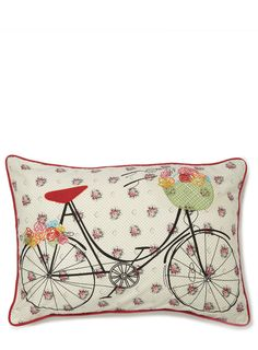 Red Pushbike Cushion - view all - cushions - For The Home - BHS