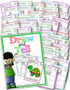 Draw and Tell!  Helps kids learn how to draw and allows them to write a descriptive sentence.