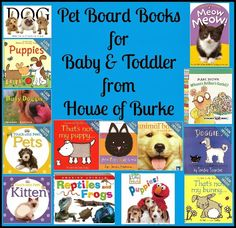 Pet Board Books for Baby and Toddler - House of Burke