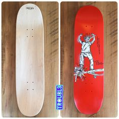 Punko Bots - TROUBL3 SKATEBOARDS Custom Decks | TROUBL3 Skateboards Custom Skateboards, Custom Decks, Skateboarding, Skateboard, Skateboards, Surfboard