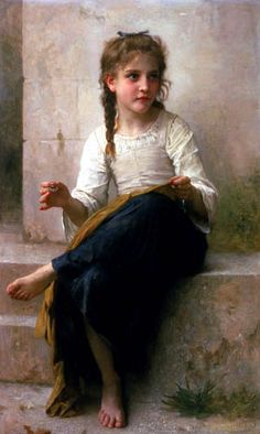 The Little Sewer - William Adolphe Bouguereau