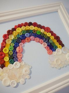 Kreatief met knopen (schilderij regenboog)