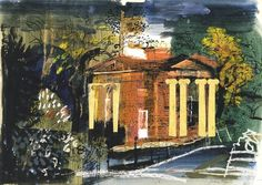 John Piper Lodge Gates Collage, watercolour and guache John Piper Artist, John Minton, Guache, Abstract Landscape, Abstract Art, Contemporary Paintings, Urban Art, Art Projects, Illustration Art