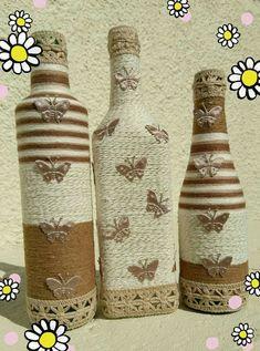 Cármen garrafas decopagem #decoratedwinebottles